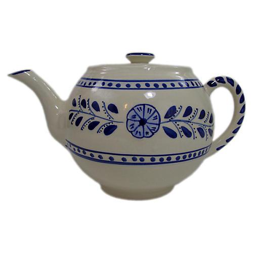 Azoura Teapot, Blue/White