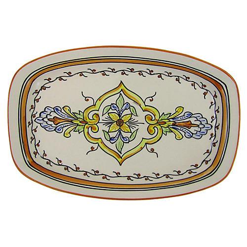 Salvena Rectangular Platter, Sunflower Yellow