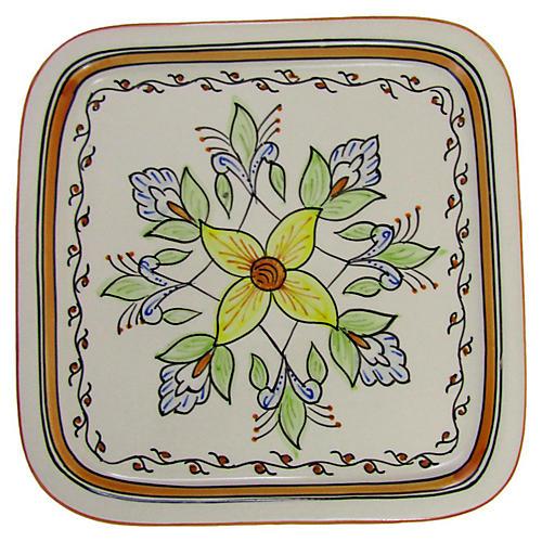 Salvena Square Platter, Sunflower Yellow