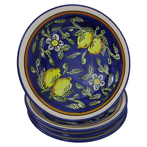 S/4 Citronique Side Plates, Deep Cobalt