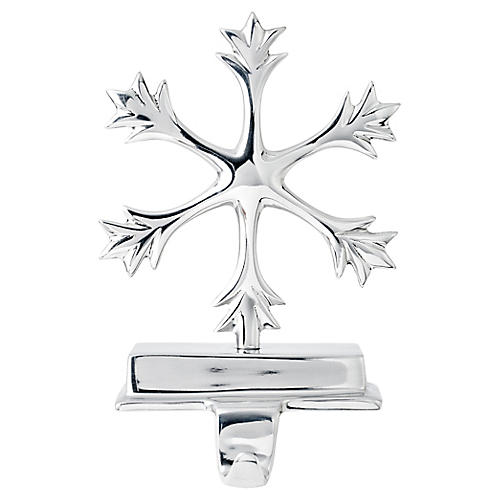 "10"" Snowflake Stocking Holder, Silver"