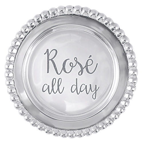 Rosé All Day Wine Coaster, Silver