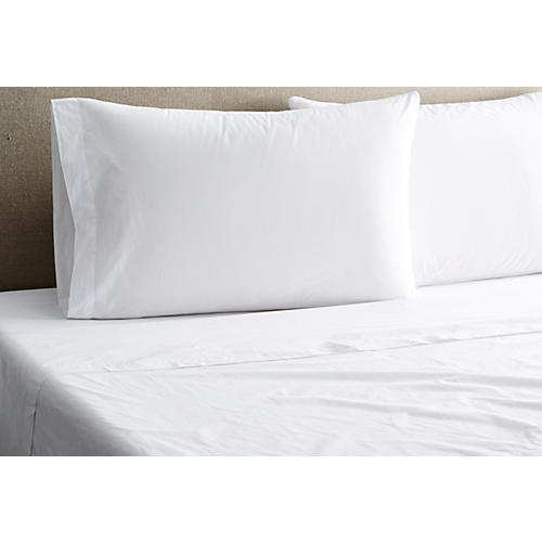 Nap Percale Sheet Set, White