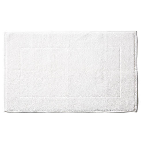 Riviera Bath Mat, White
