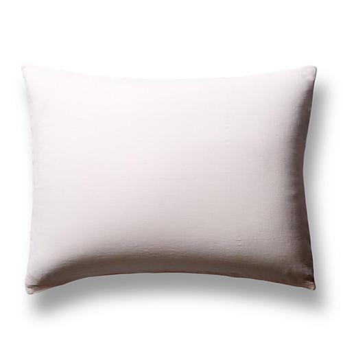 S/2 Washed Linen Shams, Blush