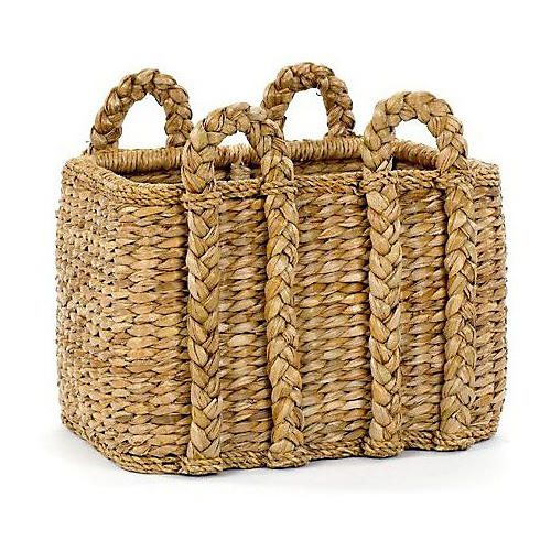 Rectangular Rush Basket, 21""