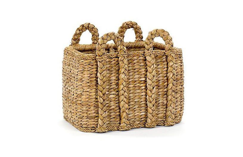 Rectangular Rush Basket, 21