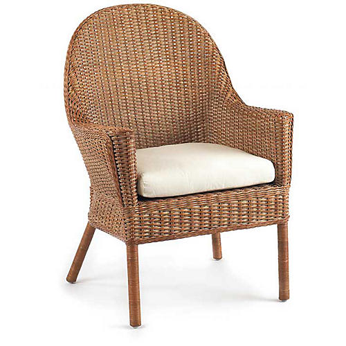 Loft Wicker Armchair, Chestnut