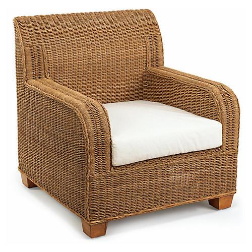Beachcomber Wicker Club Chair, Natural