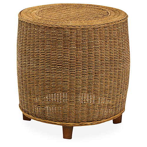 Beachcomber Wicker Side Table, Natural