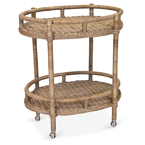 Sausalito Bar Cart, Chestnut