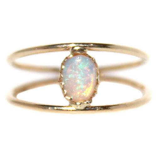 Caged Opal Ring
