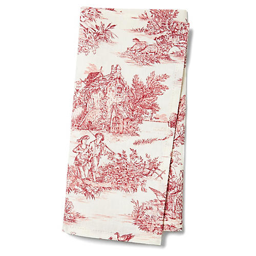 S/4 Indiennes Napkins, Rose
