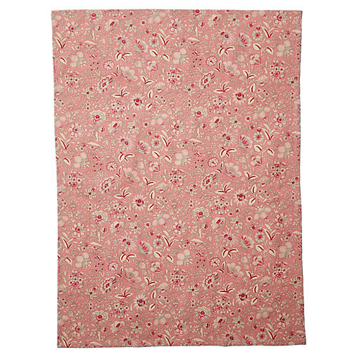 Old Rose Tea Towel, Red/Multi