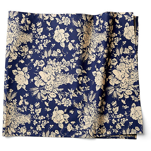 Panier Table Runner, Blue/White