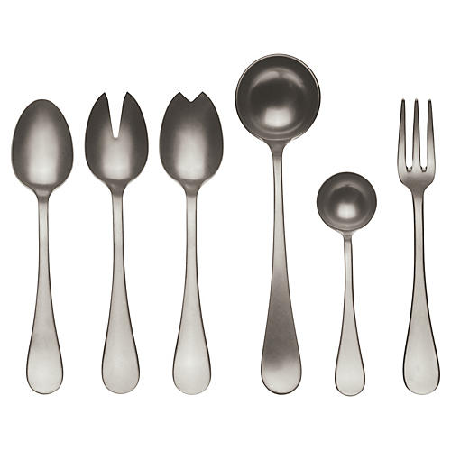 Asst. of 7 Matte VII Serving Set, Champagne