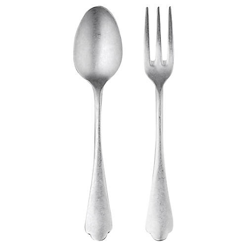 Asst. of 2 Dolce Vita Serving Set, Pewter