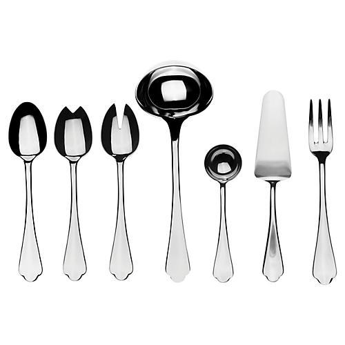 Asst. of 7 Dolce Vita Serving Set, Silver