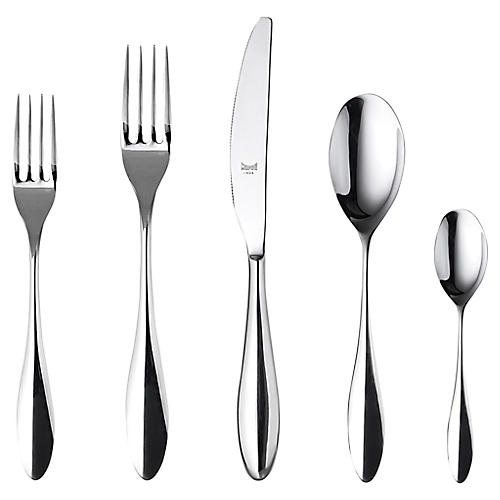 20-Pc Carinzia Cutlery Set, Silver