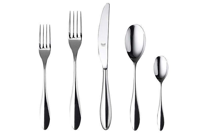 20-Pc Carinzia Cutlery Set, Silver