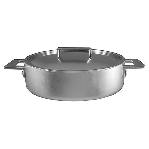 Attiva Frying Pan w/Lid, Silver
