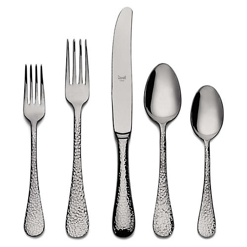 5-Pc Epoque Place Setting, Dark Gray