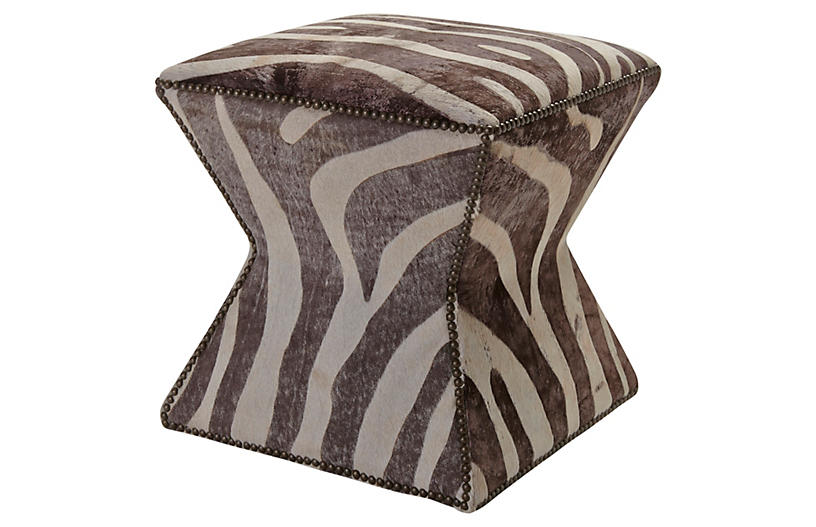 Althea Stool, Gray Zebra