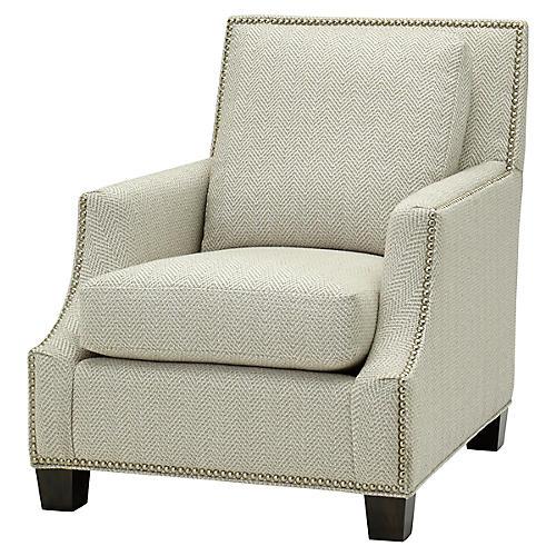 Belcourt Club Chair, Stone
