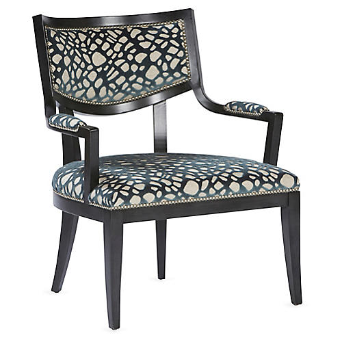 DuPont Accent Chair, Aqua