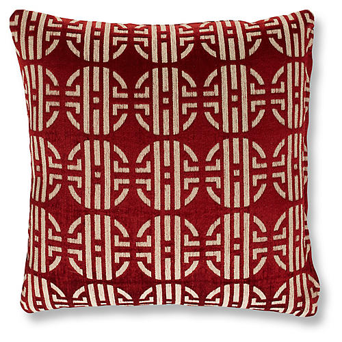 Wrena 19x19 Pillow, Crimson