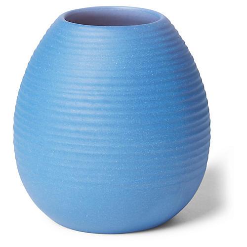 """3"""" Ribbed Bud Vase, Cobalt"""