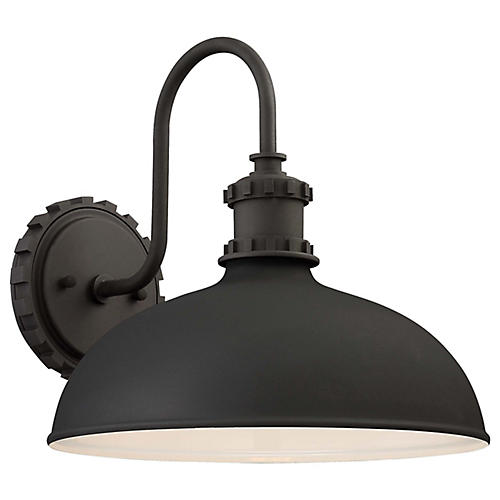 Escudilla Outdoor Sconce, Black