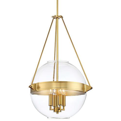 Atrio 4-Light Globe Pendant, Liberty Gold