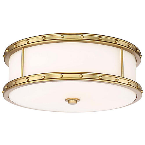 Lambton Flush Mount, Liberty Gold