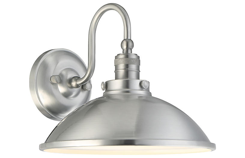 Baytree Lane Outdoor Sconce, Stainless Steel