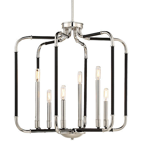 Liege Wide Pendant, Black/Nickel