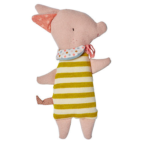 Sleepy-Wakey Piggy Plushy, Pale Pink/Multi