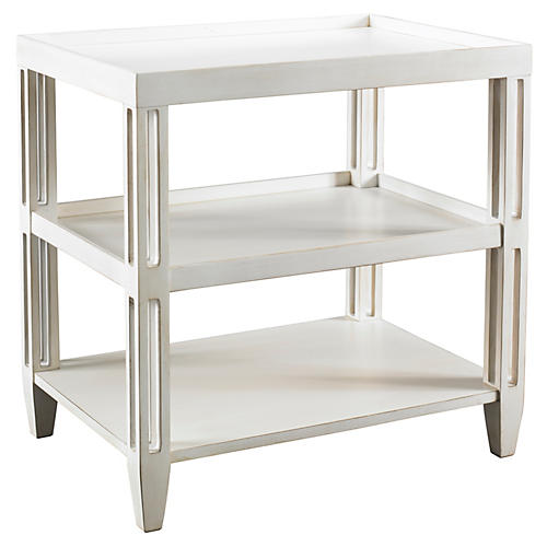 Rennie's Side Table, Washed Linen