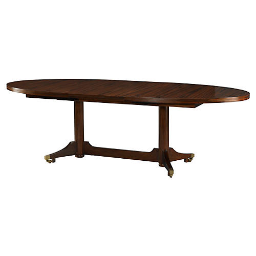 london extension dining table russet