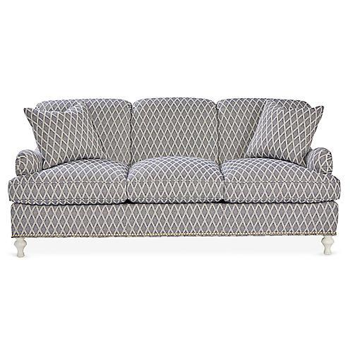 Bridgewarer Sofa, Navy/White