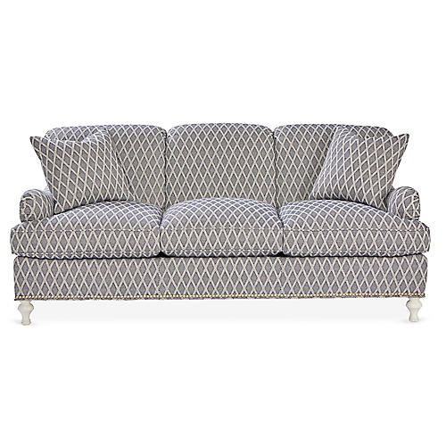 Bridgewarer Sofa, Navy/White