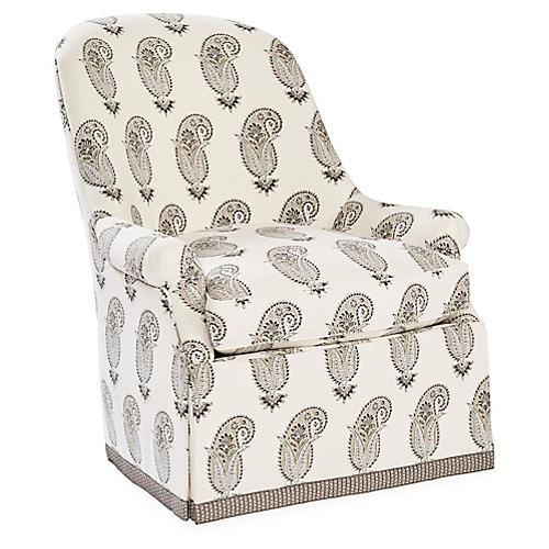 Casper Club Chair, Taupe/Multi