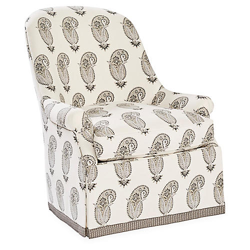 Casper Club Chair, Taupe/Multi