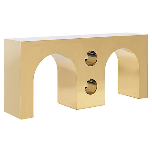 Undulating Console, Brass
