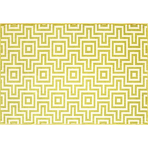 Myrtos Outdoor Rug, Green