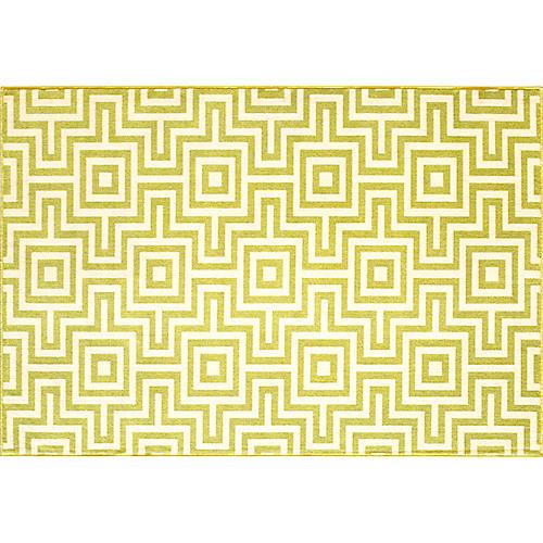 Myrtos Outdoor Rug, Green