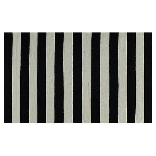 Miami Flat-Weave Rug, Black