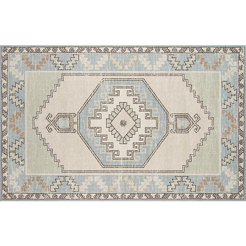 Karima Rug, Light Blue