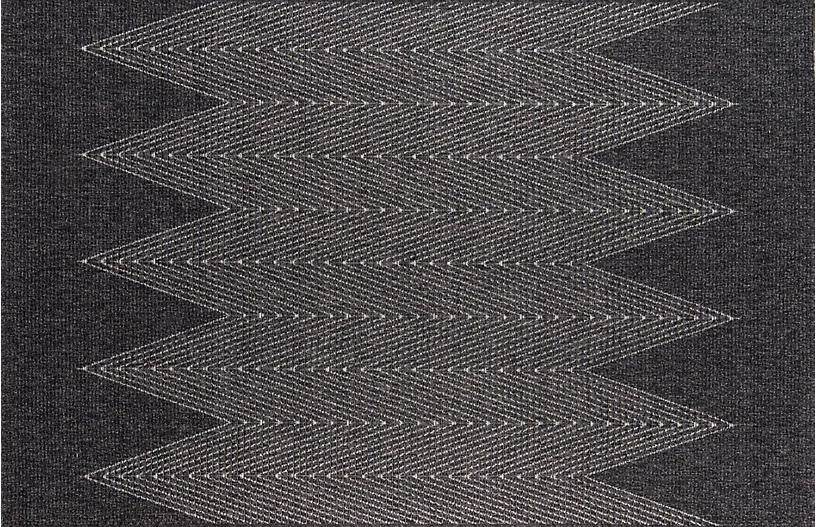 Euripu Outdoor Rug, Charcoal