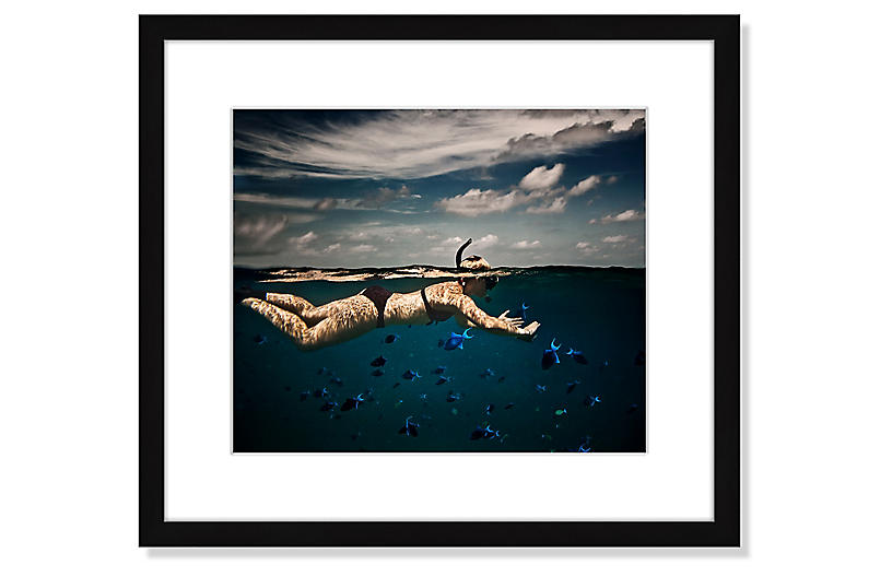 Girl Snorkelling in Indian Ocean